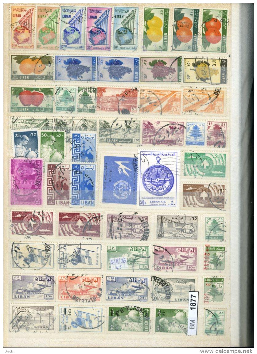 BM1877, Xx, X, O, Libanon Umfangreiche Sammlung Auf Ca. 12 A4-Seiten - Libanon