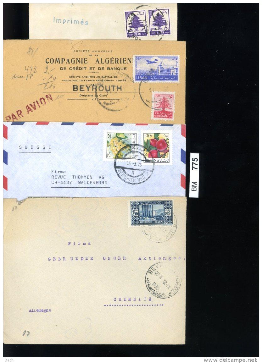 Libabon, 100 Ältere Briefe Gelaufen, Mit Z.T. Stärkeren Gebrauchsspuren - Libanon