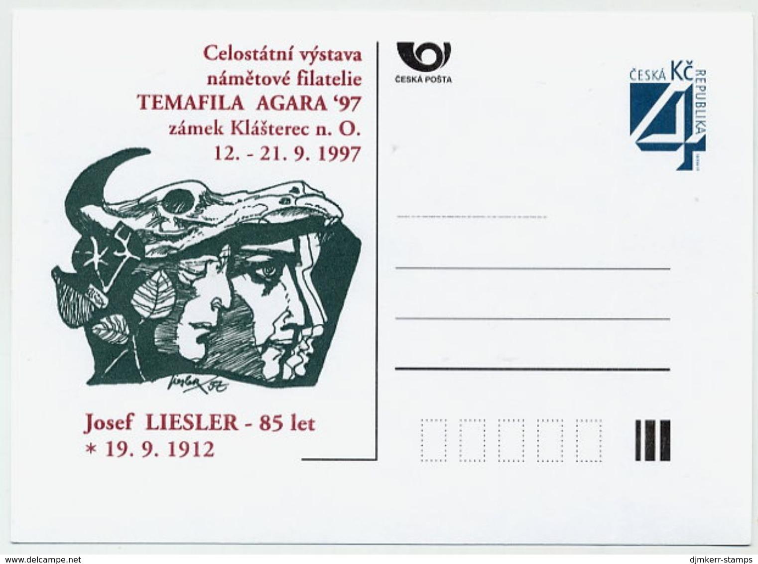 CZECH REPUBLIC 1997 Postcard TEMAFILA AGARA '97 Unused.  Michel P26-A5 - Postal Stationery