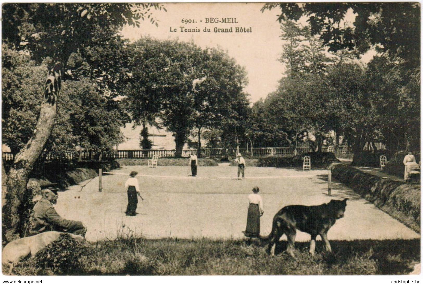 CPA Beg Meil, Le Tennis Du Grand Hotel (pk44620) - Beg Meil