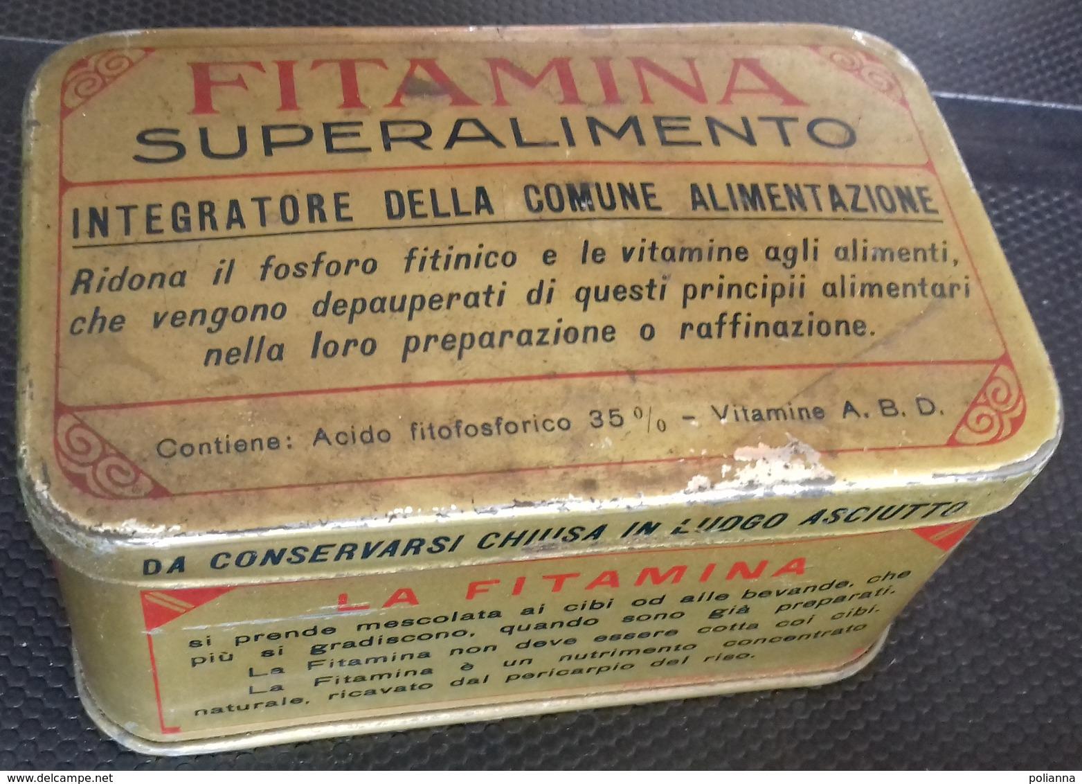 M#0U47 SCATOLA IN LATTA Anni '30 FITAMINA SUPERALIMENTO INTEGRATORE ALIMENTARE/FARMACEUTICA - Scatole