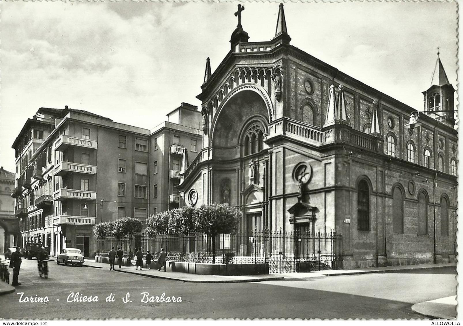 """765"""" TORINO - CHIESA DI S. BARBARA """" CART ANIM NON SPED. - Churches"""
