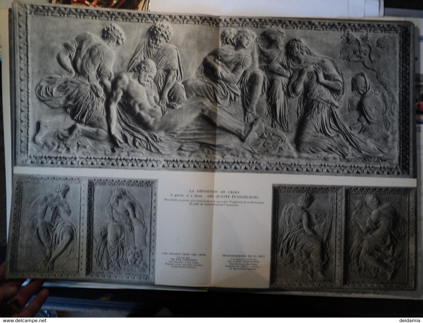 ENSEMBLE DE PLANCHES LE LOUVRE. SULPTURE DE LA RENAISSANCE FRANCAISE  EDITION SNEP / ILLUSTRATION. - Sculpturen