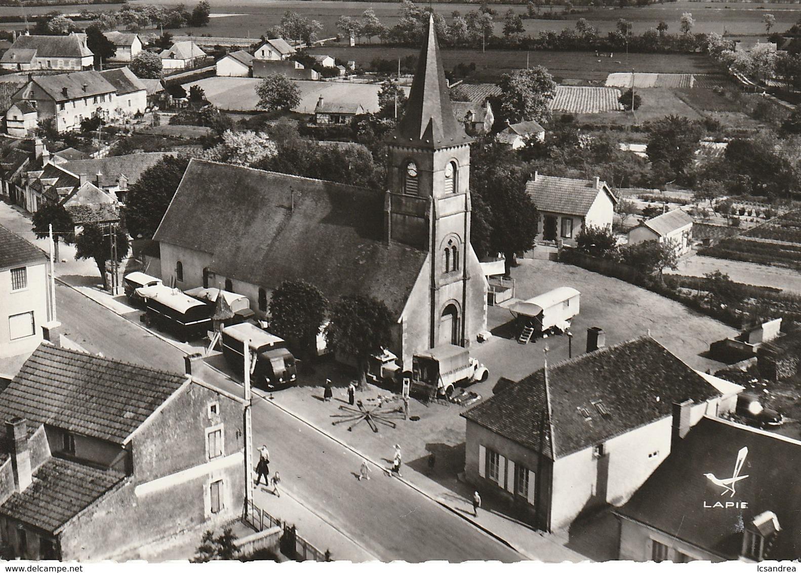 CPSM GANNAY-sur-LOIRE - L'Eglise - Autres Communes