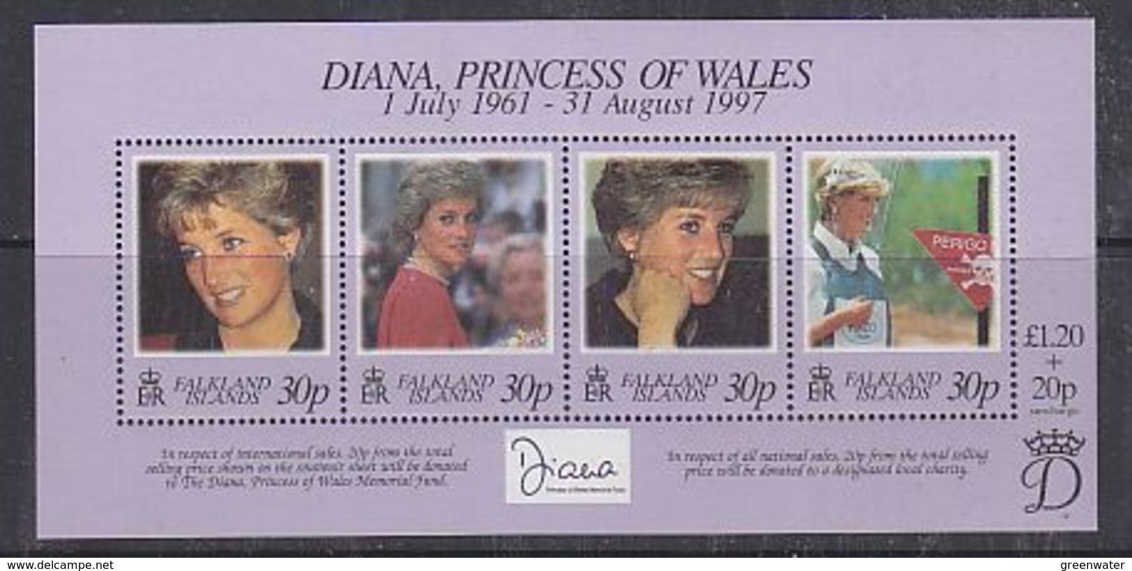 Falkland Islands 1998 Diana Princess Of Wales M/s ** Mnh (38829 ) - Falklandeilanden