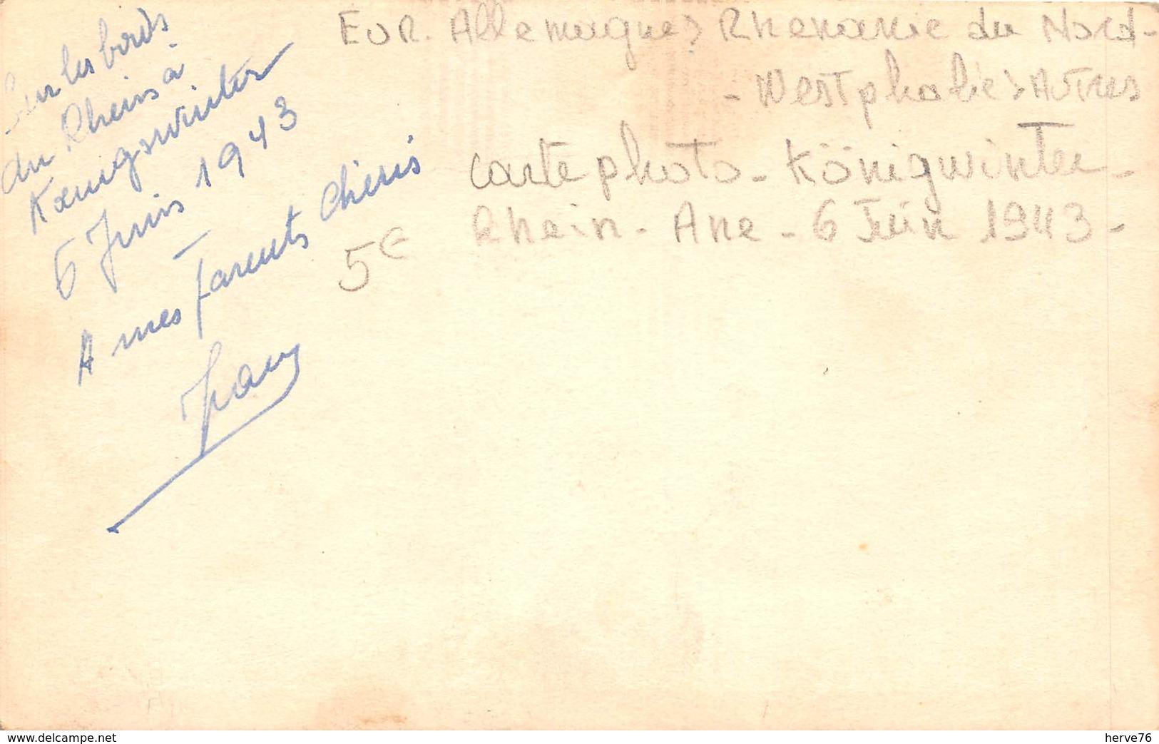 ALLEMAGNE - Carte Photo  - Sur Les Bords Du Rhein à KOENIGSWINTER - 6 Juin 1943 -ane - Koenigswinter