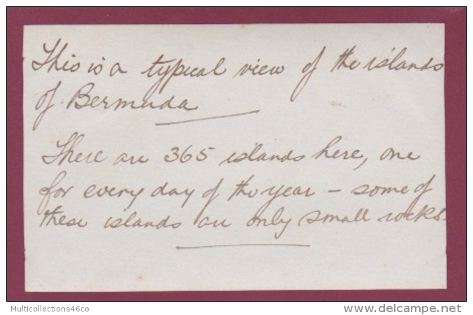 220518 - ANTILLES BERMUDES 1920 Vue Typique Des Iles Des Bermudes - Bermudes