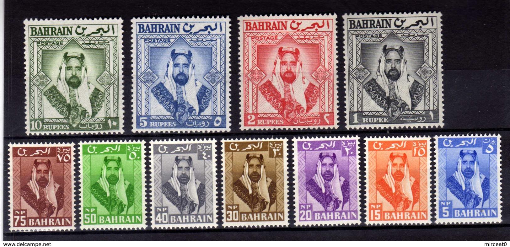 "BAHRAIN 1960  MNH  -  "" CHEIKH  SALMAN BEN HAMAD AL-KHALIFA ""  -  11  VAL - Bahreïn (1965-...)"