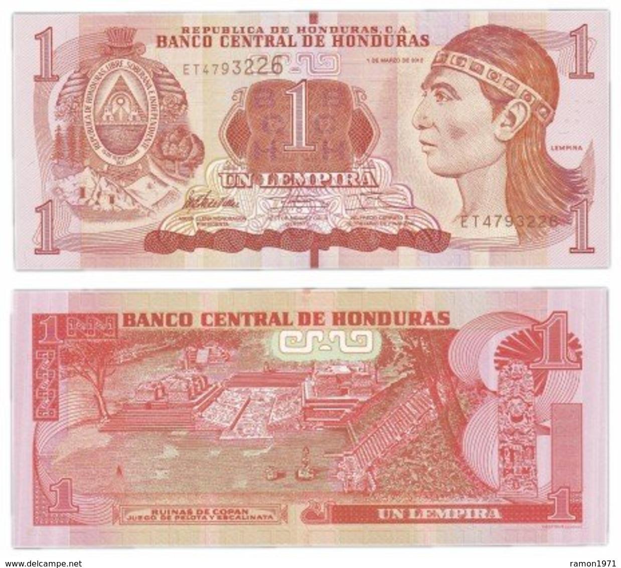 Honduras - 1 Lempira 2012 UNC - Armenia