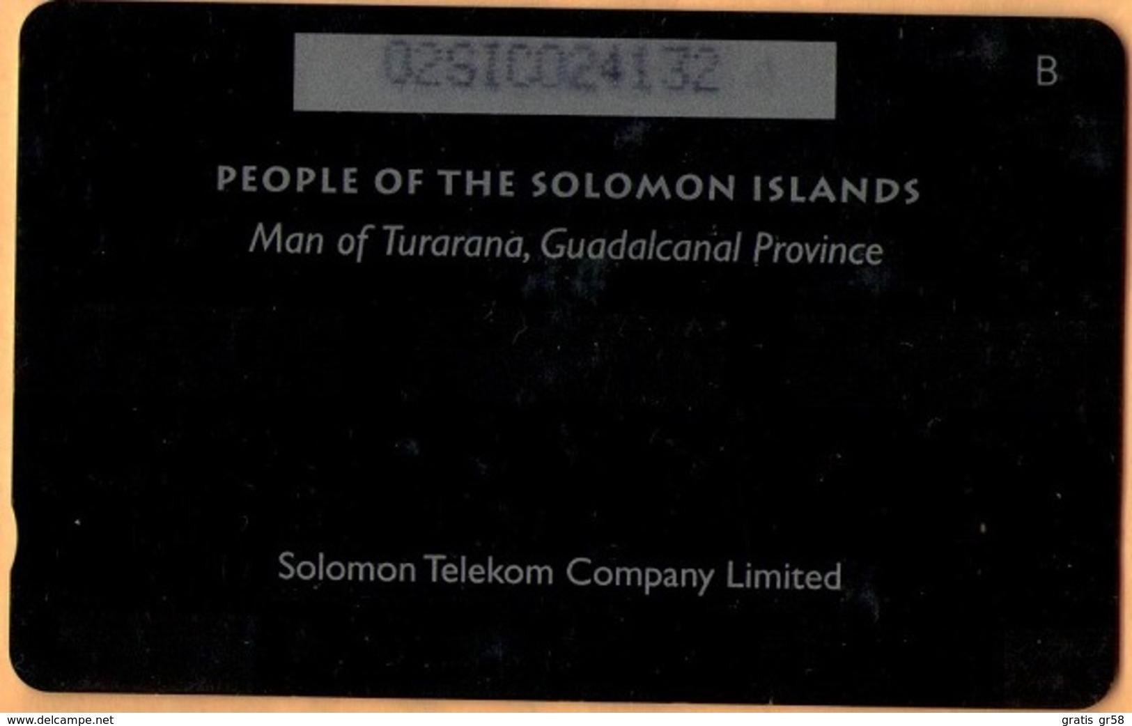Solomon Island - SOL-05A, GPT, Man Of Turarana (Letter B), 10SI$, 1993, Used, Faded CN See Pics - Isole Salomon