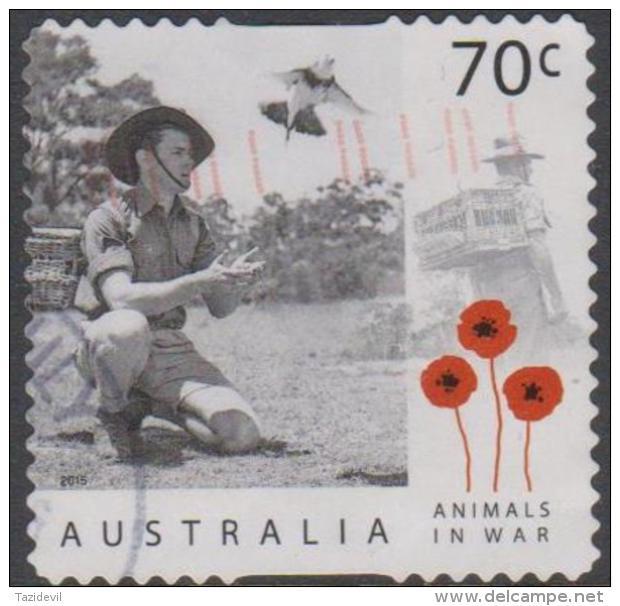 AUSTRALIA - DIE-CUT - USED 2015 70c Centenary Of Service - Animals In War - Pigeons - Usati
