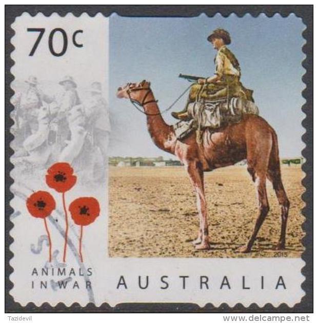 AUSTRALIA - DIE-CUT - USED 2015 70c Centenary Of Service - Animals In War - Camels - Usati
