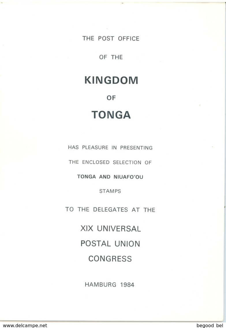 TONGA NIUAFO OU - 1983-1984 - ADHESIVE - SELECTION POST UPU HAMBURG 1984  - Lot 16751 - SEE DESCRIPTION - Tonga (1970-...)