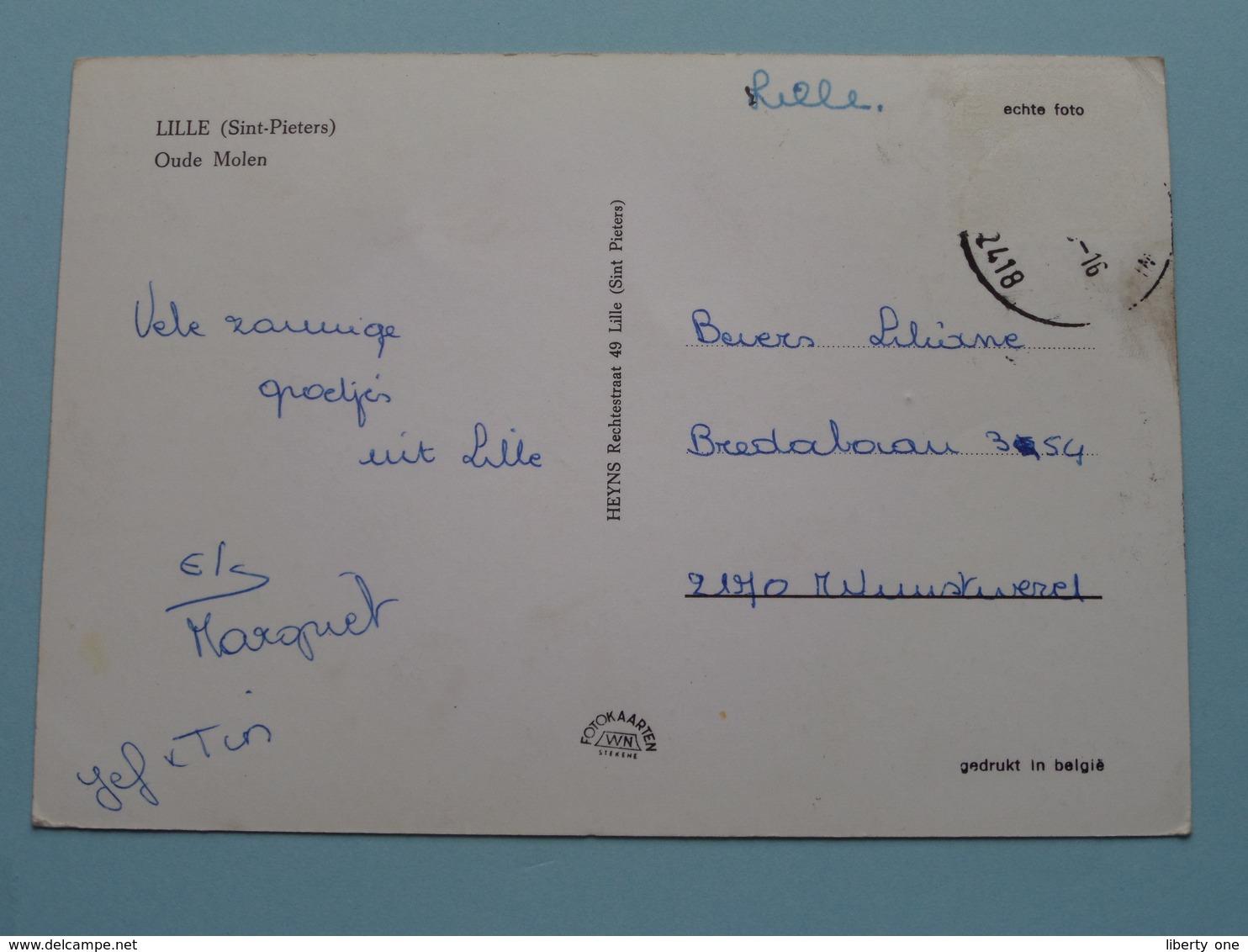 LILLE ( Sint-Pieters ) OUDE MOLEN ( Heyns ) Anno 19?? ( Voir Photo Svp ) ! - Lille