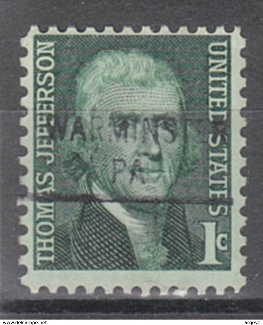 USA Precancel Vorausentwertung Preo, Locals Pennsylvania, Warminster 841 - Vereinigte Staaten