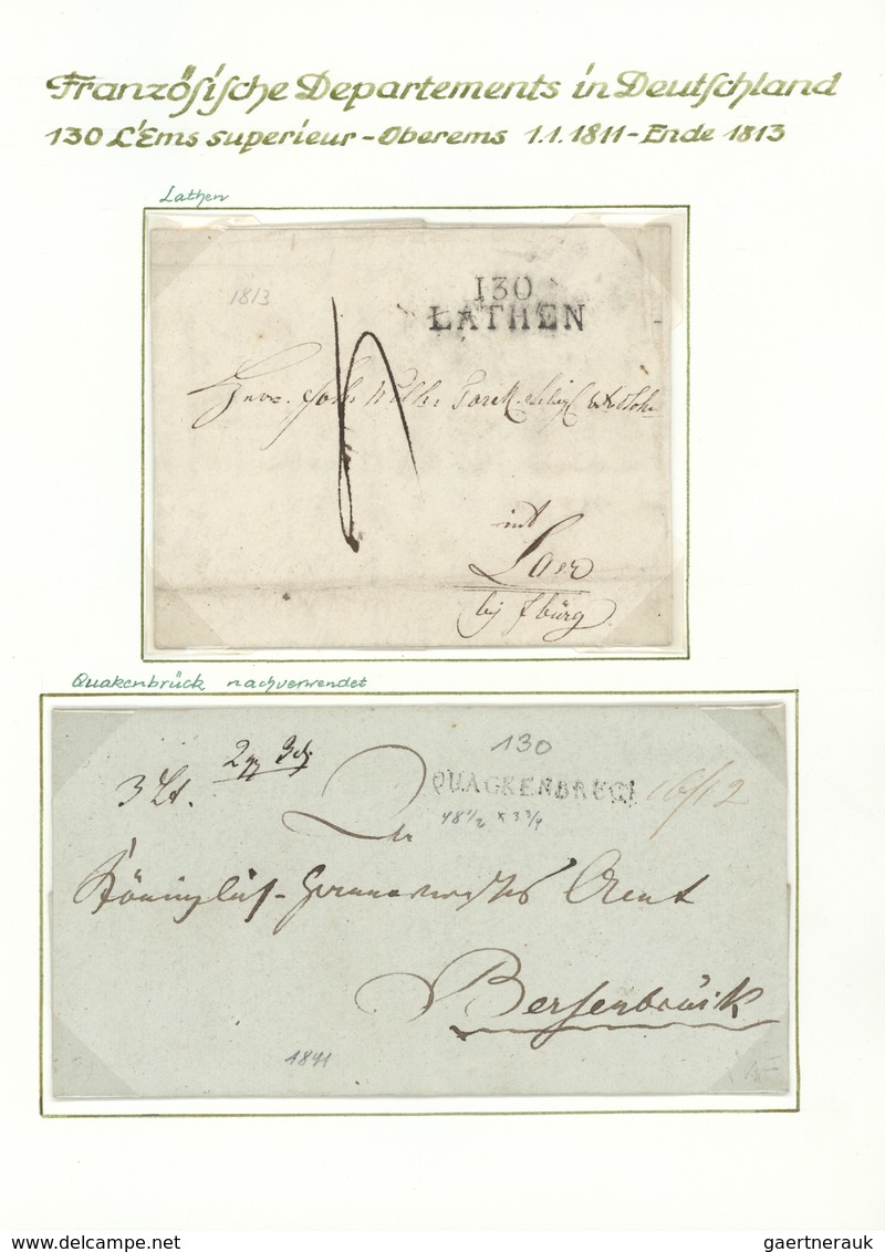 29968 Altdeutschland - Vorphila: 1797/1813, Napoleon In Deutschland: Interessante Spezialsammlung Mit über - Germany