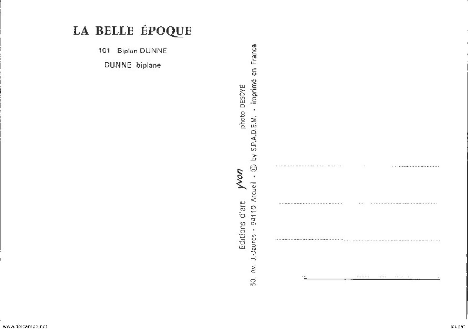 DUNNE Biplane - Biplan Dunne - Avions