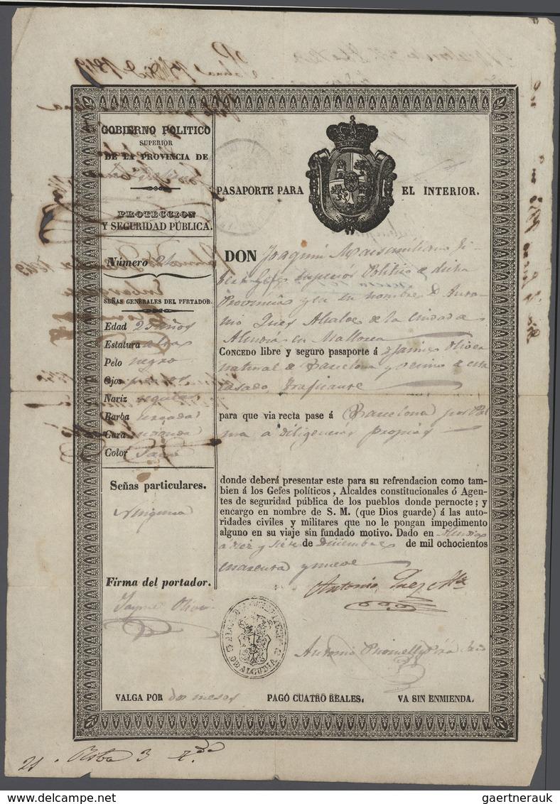 32965 Varia (im Briefmarkenkatalog): 1840er Ff.: Mehrere Hundert Aktien, Wertpapiere, Anleihen, Obligation - Other Collections