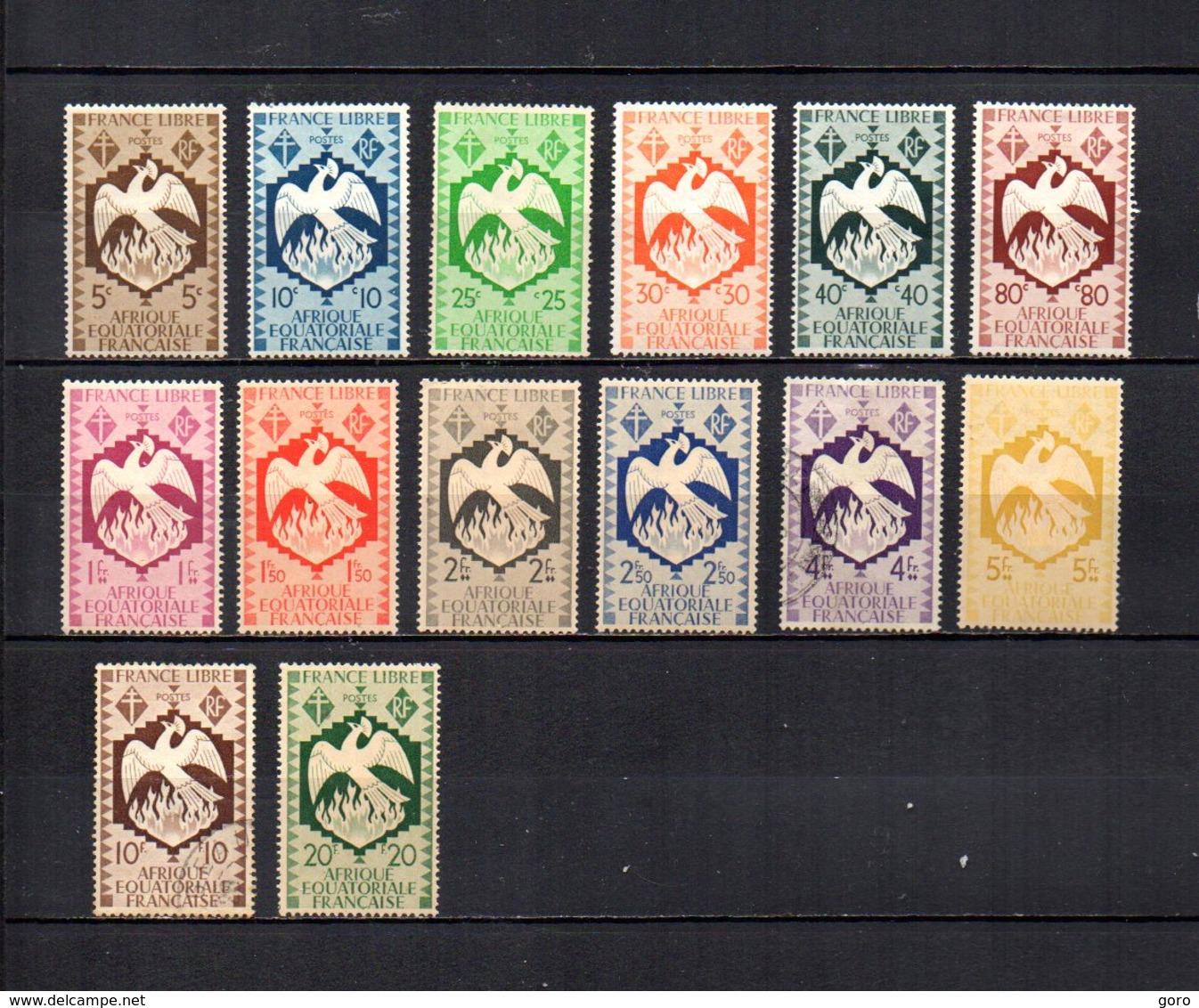 Africa Ecuatorial Francesa   1941  .-  Y&T  Nº    141/154 - Usados