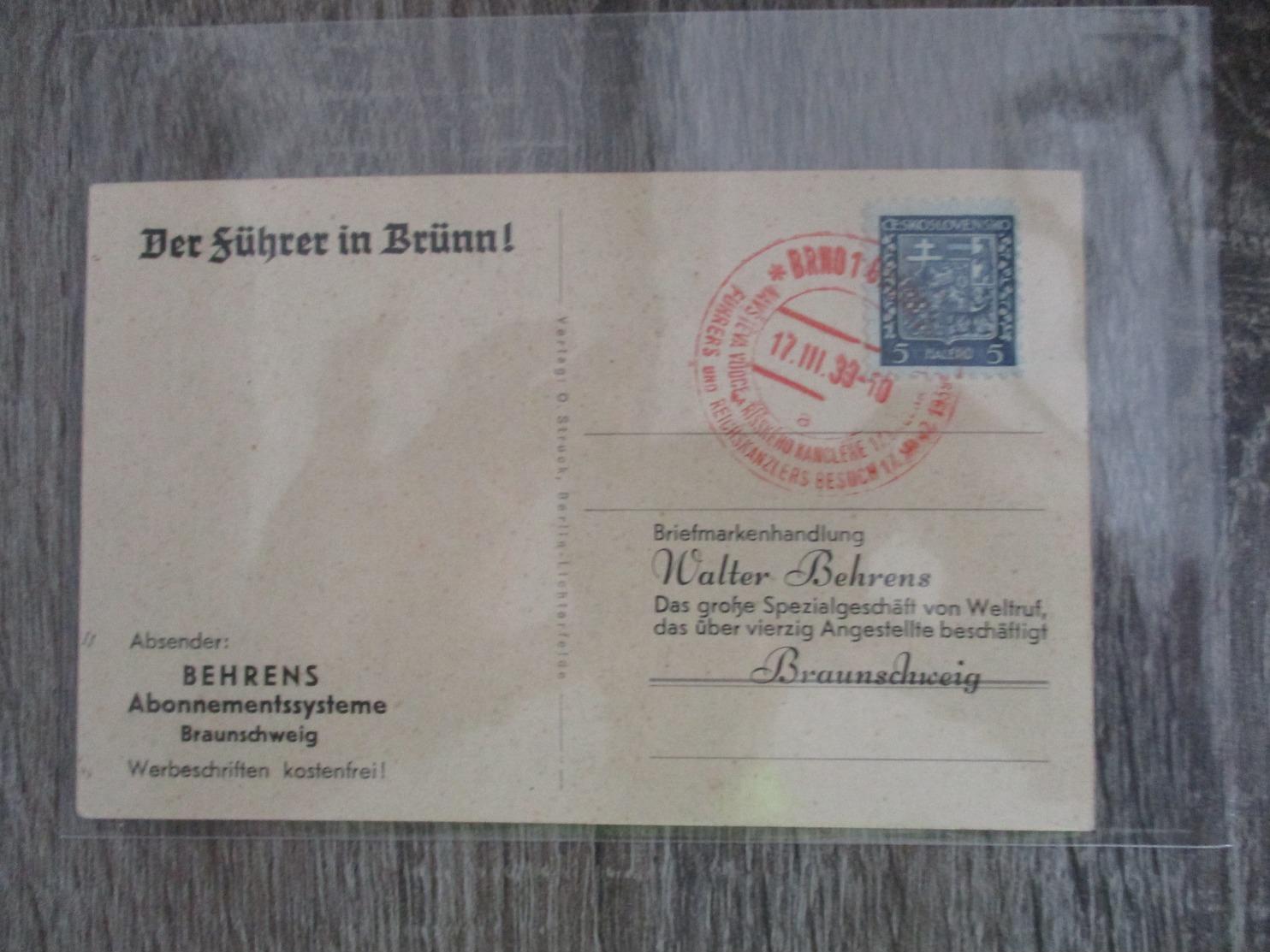 Carte De Propagande - Allemagne