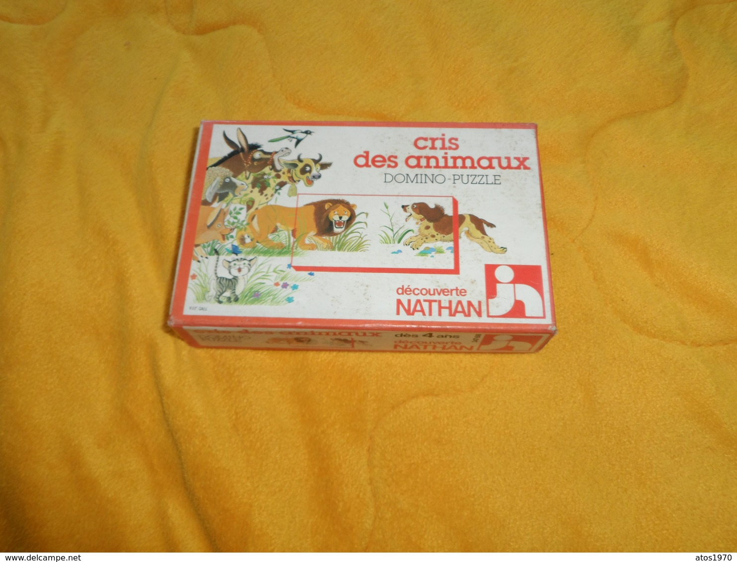 JEUX DE SOCIETE ANCIEN. / DOMINO PUZZLE CRIS DES ANIMAUX DECOUVERTE NATHAN. ANNEE 1979. COMPLET. - Puzzles