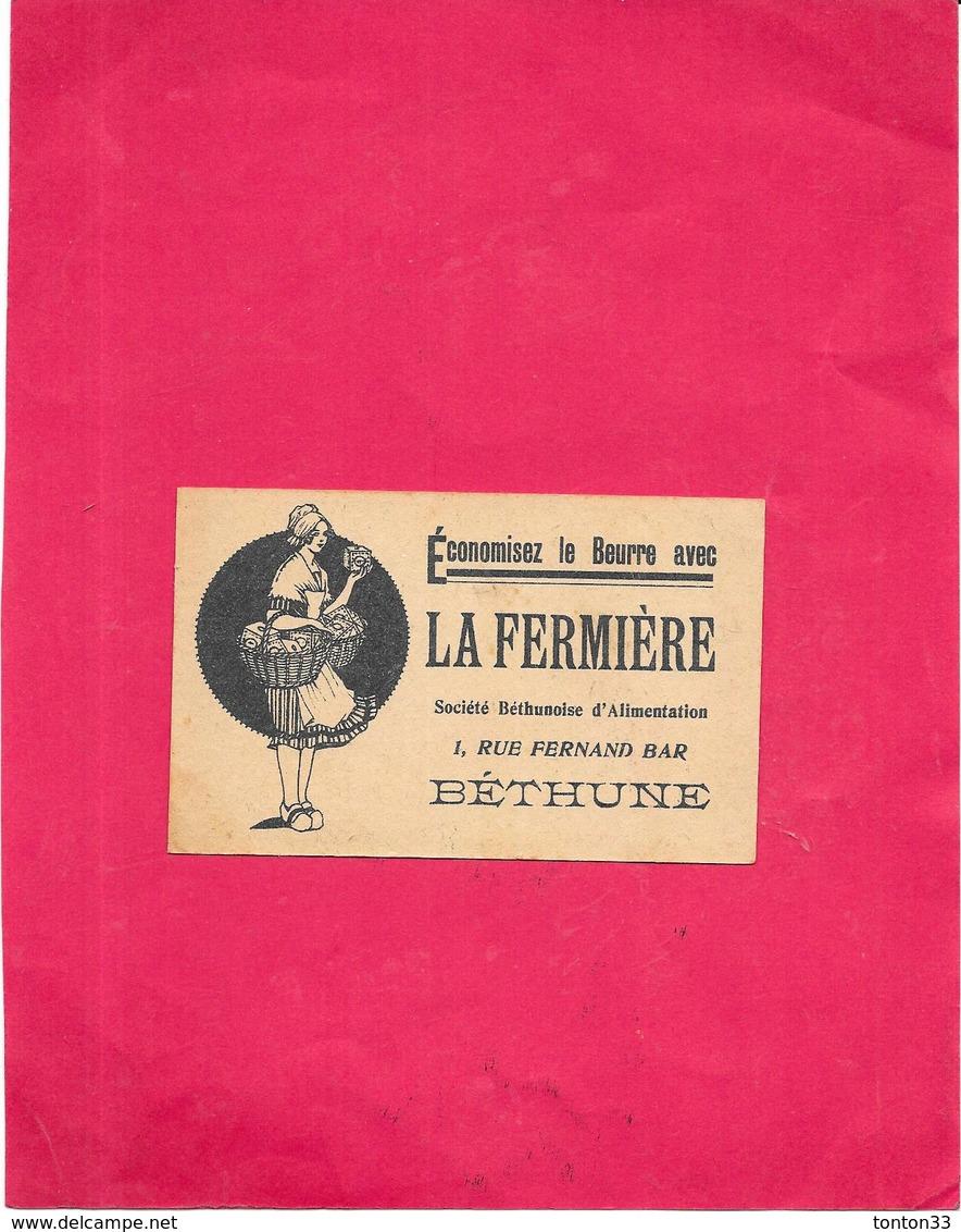 CHROMO LA FERMIERE - Economisez Le BEURRE Société BETHUNOISE D'ALIMENTATION - LES SCOUTS - BARA1 - - Autres