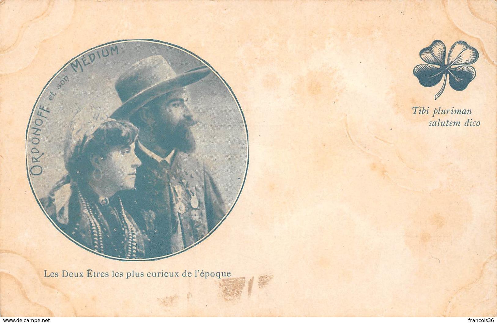 Ordonoff Et Son Médium - Les Deux Etres Les Plus Curieux De L'époque - Cartes Postales