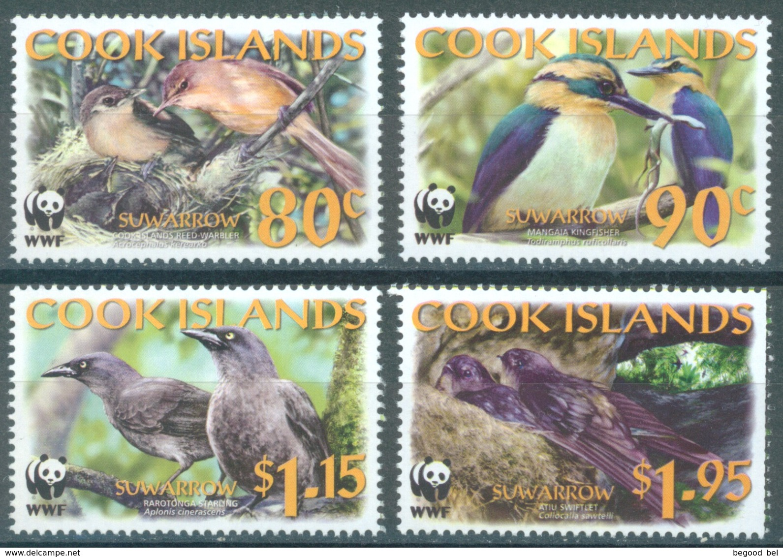 COOK  - 2005 - MNH/** - BIRDS WWF - Yv 1224-1227 Mi 1540-1543 - Lot 16812 - Cook