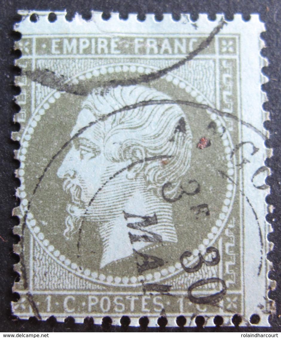 R1752/415 - NAPOLEON III N°19 - CàD - Défectueux - Cote : 50,00 € - 1862 Napoleon III