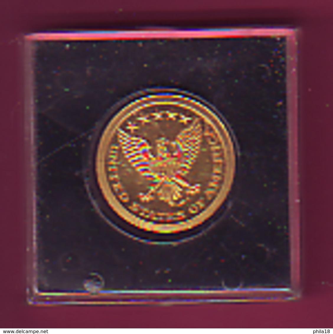 FRAPPE MONNAIE DE PARIS EDITION COMMEMO OR PUR 999/1000 KENNEDY JONN F- ROBERT F  AIGLE UNITED STATES OF AMERICA - Non Classés