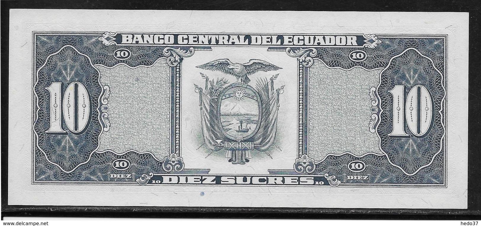Equateur - 10 Sucres - Pick N°121 - NEUF - Ecuador