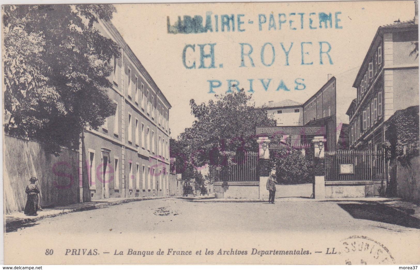 La Banque De France Et Les Archives Départementales - Privas