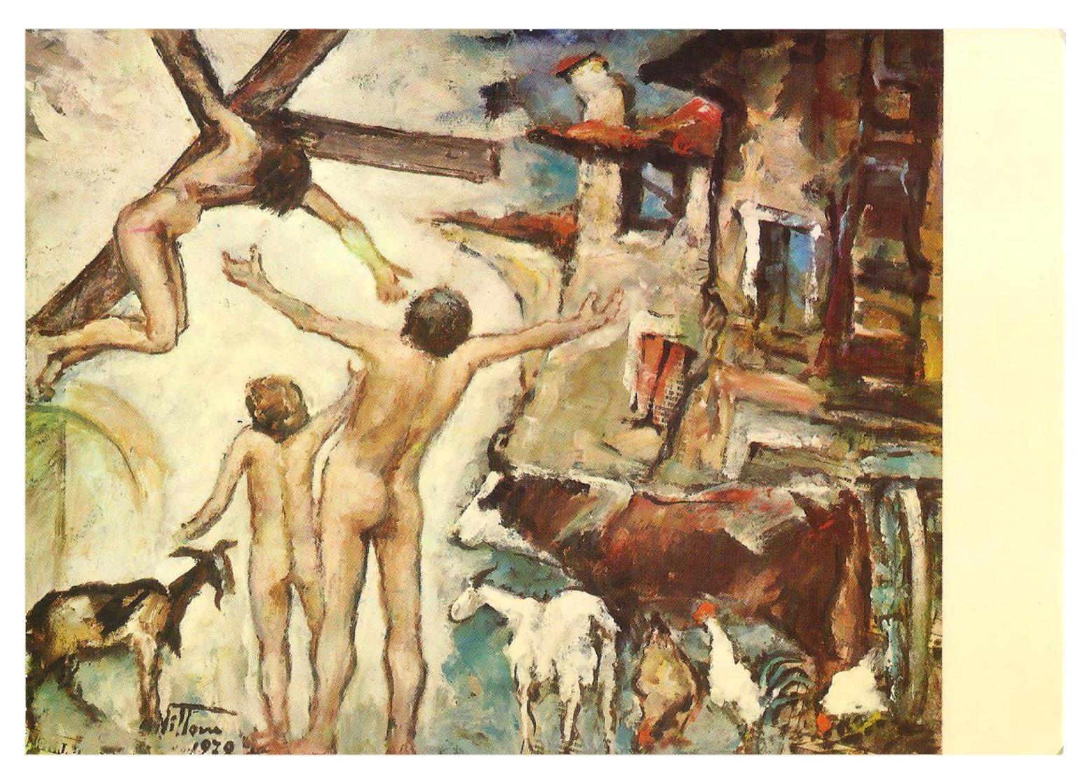 Gesù Crocefisso, Uomini Nudi E Animali. Da Un Quadro Di Giacomo Vittone - 1979. - Non Classificati