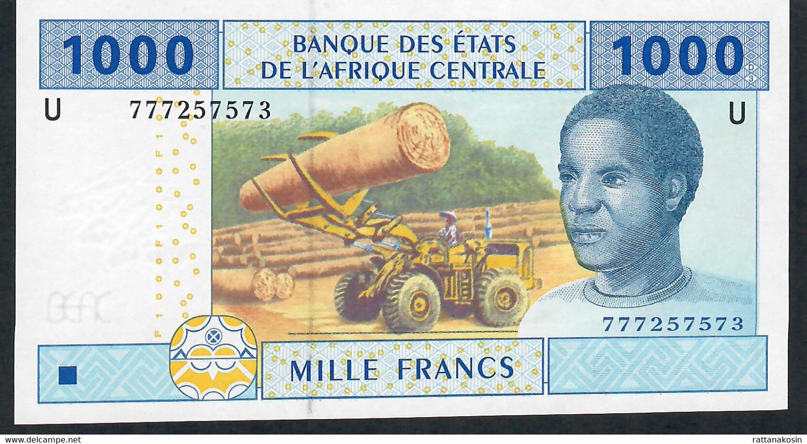 C.A.S. LETTER U CAMEROUN P207Ue ? 1000 FRANCS 2002 New Signature 2018 ! - Camerun