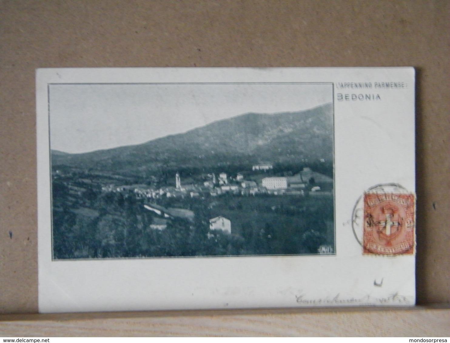 MONDOSORPRESA, BEDONIA L' APPENNINO PARMENSE (1900), VIAGGIATA - Parma