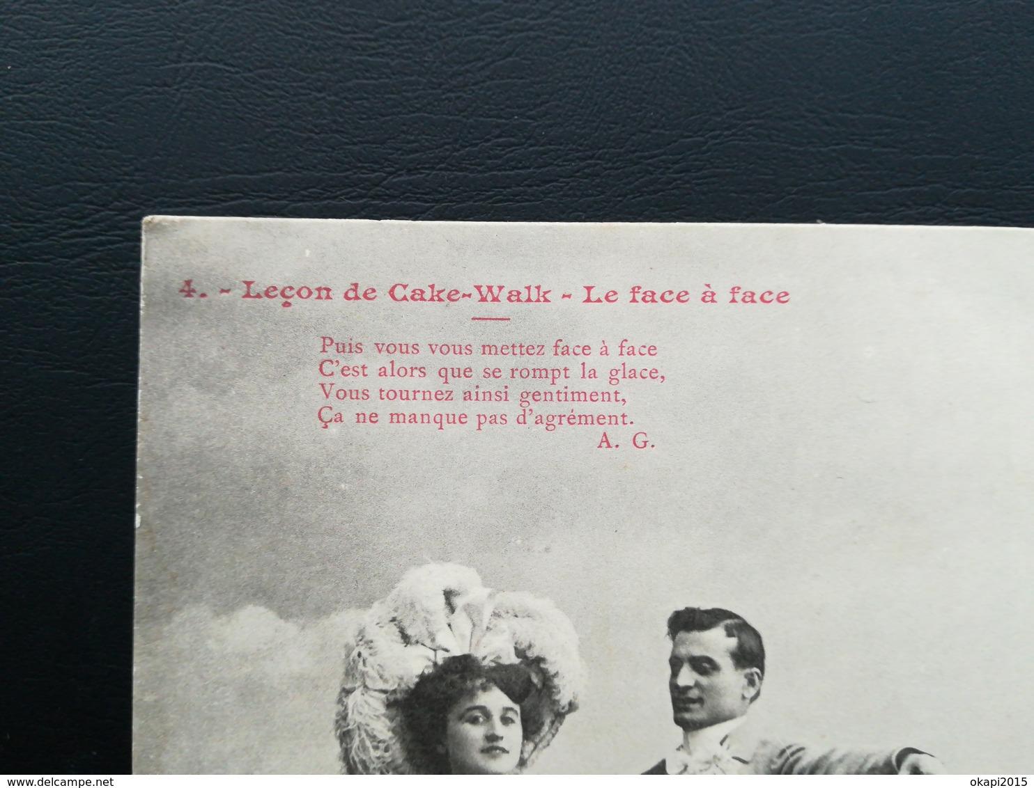 """Leçons De """"Cake -  Walk """" Lot De 3 Cartes Postales À DOS NON  -  DIVISÉ  DÉBUT DU 20e Siècle Lot 6 Cartes - Amérique"""