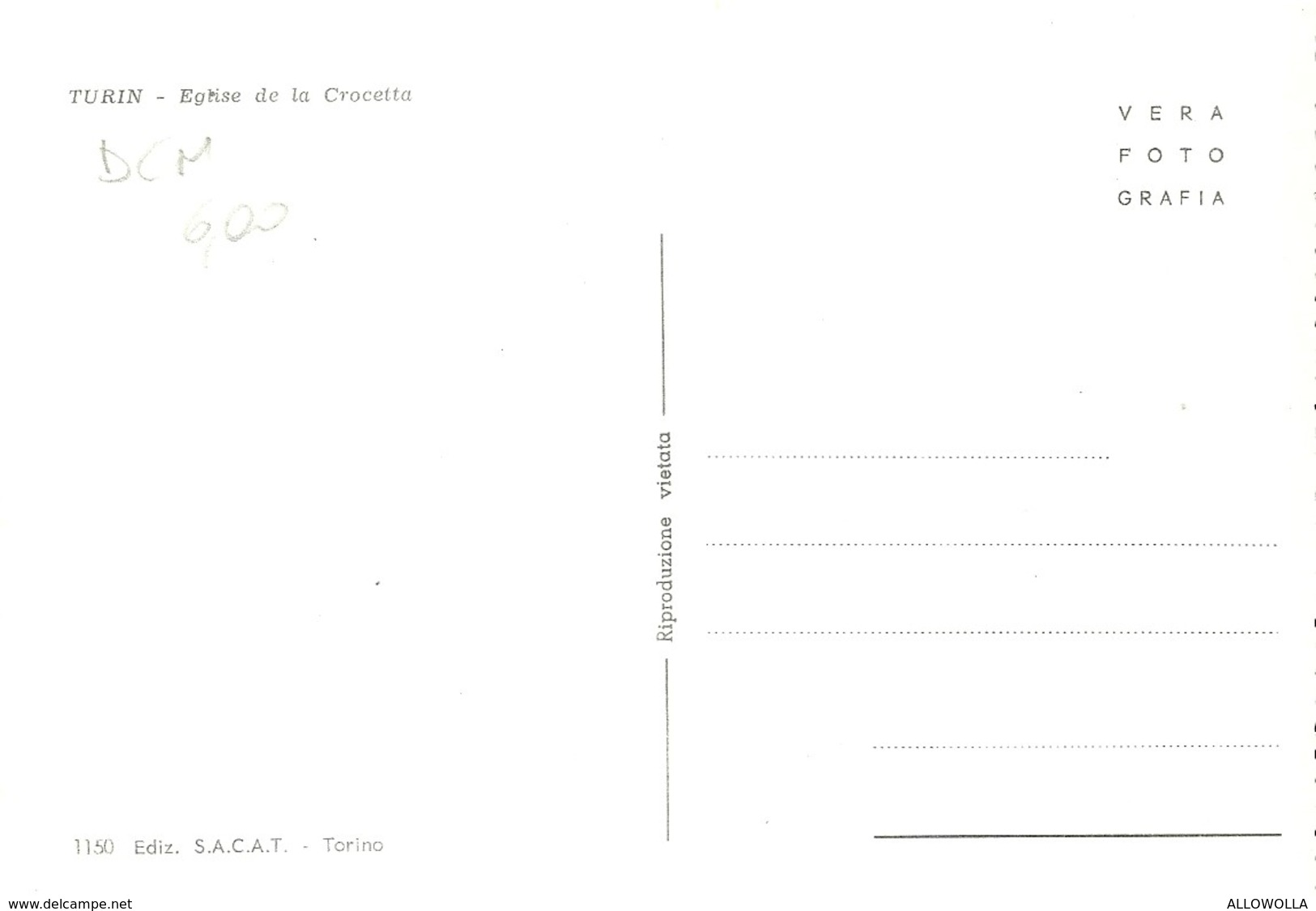 """821 """" TORINO - CHIESA DELLA CROCETTA CON AUTO,MOTO E BANCARELLA DEL MERCATO """" CART ANIM NON SPED. - Churches"""
