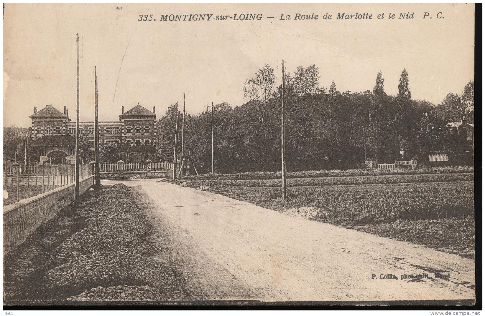 77 --  Montigny - Sur - Loing -- La Route De Marlotte Et Le Nid - France