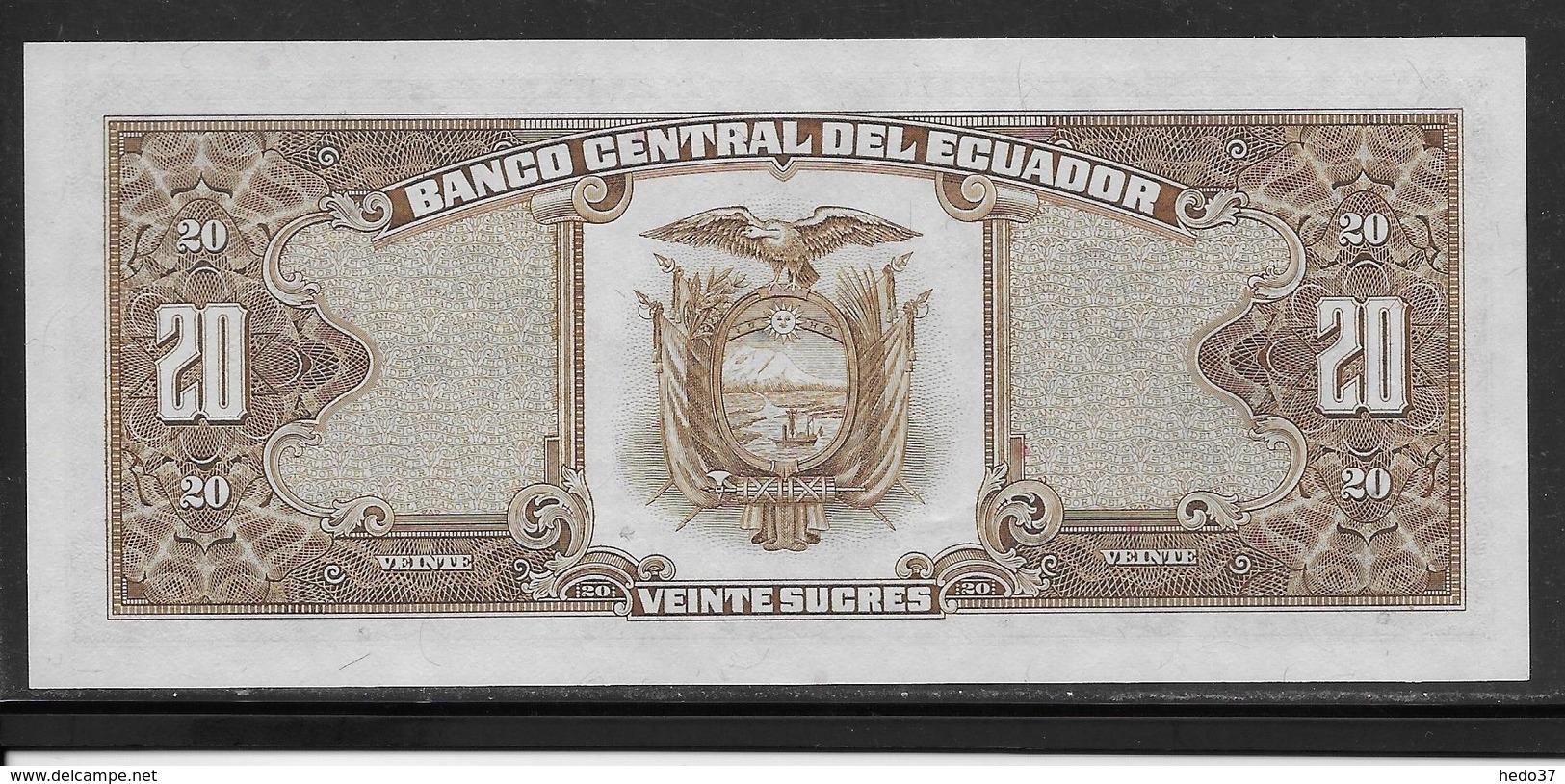 Equateur - 20 Sucres - Pick N°121A - NEUF - Ecuador