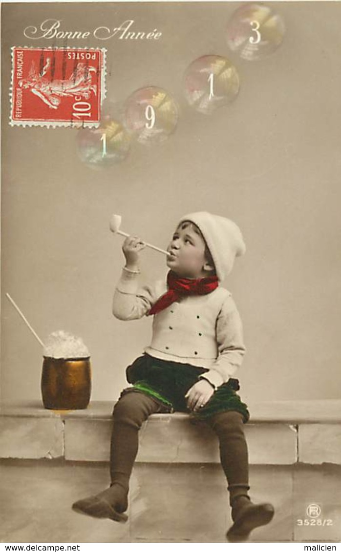 - Thèmes -ref-A781- Surrealisme - Tabac - Enfant Fumant La Pipe - Annee 1913 Dans La Fumee - Carte Bon Etat - - Cartes Postales