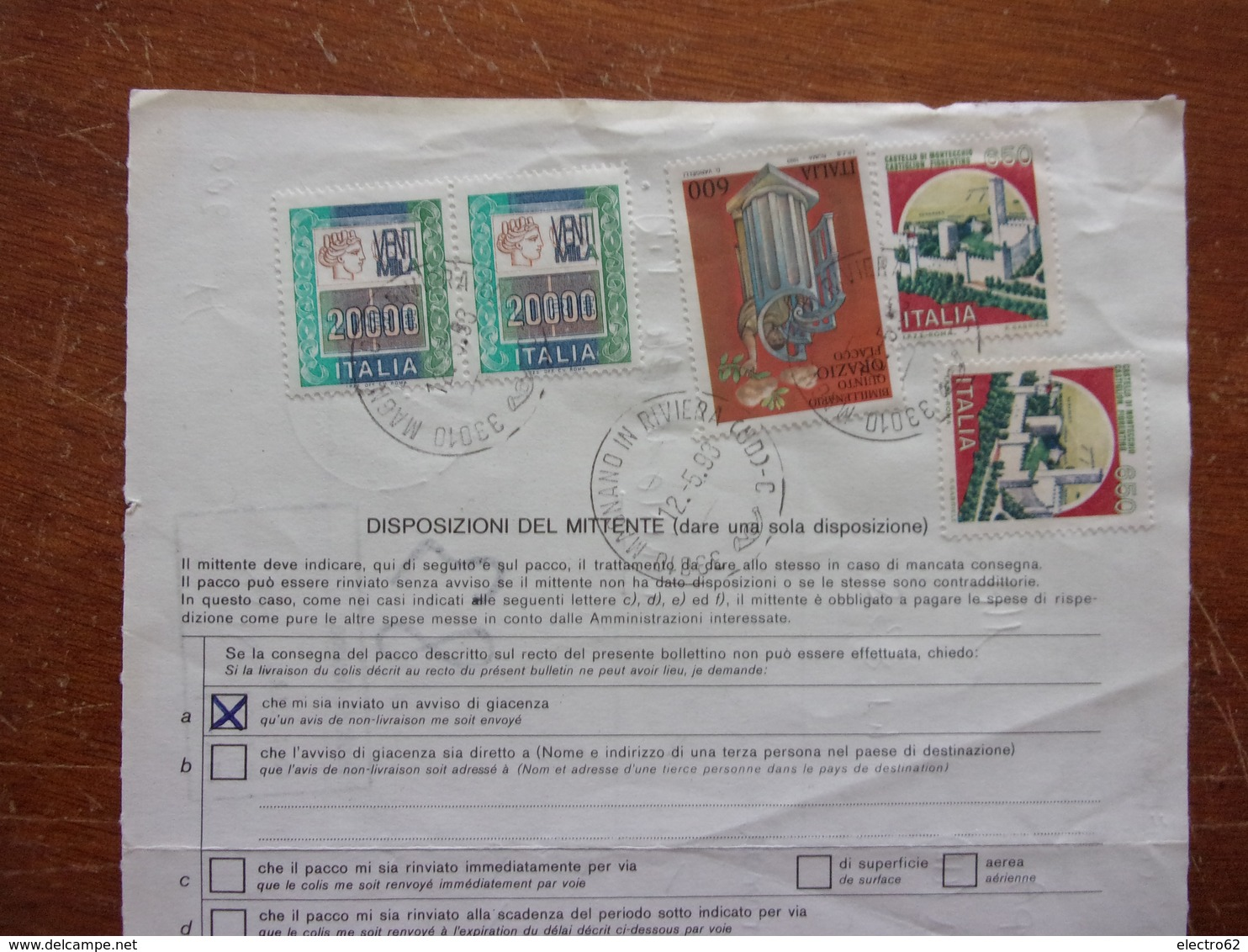 Italie Bulletin D'expédition France Italia Bollettino Di Spedizione Francia Lyon Villeurbanne Saint Priest (7) - Italia