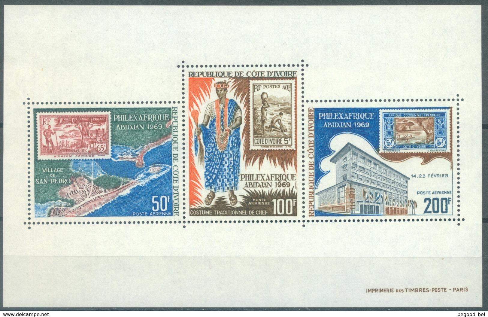 COTE D'IVOIRE - 1969 - MNH/** - PHILEX  - Yv BLOC 4 - Lot 16849 - Côte D'Ivoire (1960-...)