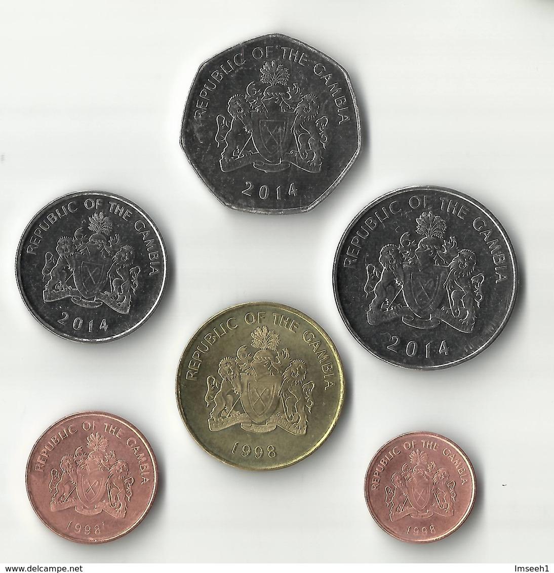 Gambia - Set 6 Coins 1 5 10 25 50 Bututs + 1 Dalasi 1998 - 2014 UNC - Gambia