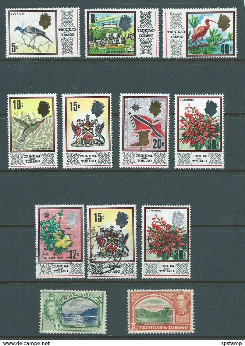 Trinidad & Tobago 1969 Definitives 7 Different To 40c MLH , + Few Used & KGVI Odds M - Trinidad & Tobago (1962-...)