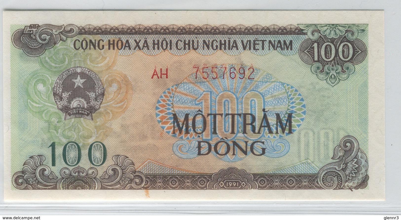 VIET NAM 105 1991 100 Dong UNC - Vietnam