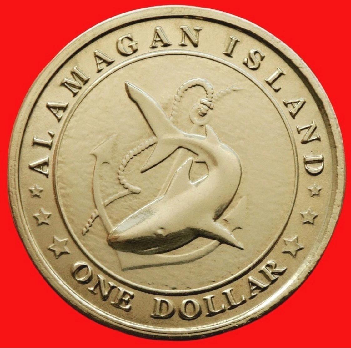 """Alamagan Island, One Dollar In 2016, """"Big Mouth"""" - Monnaies"""