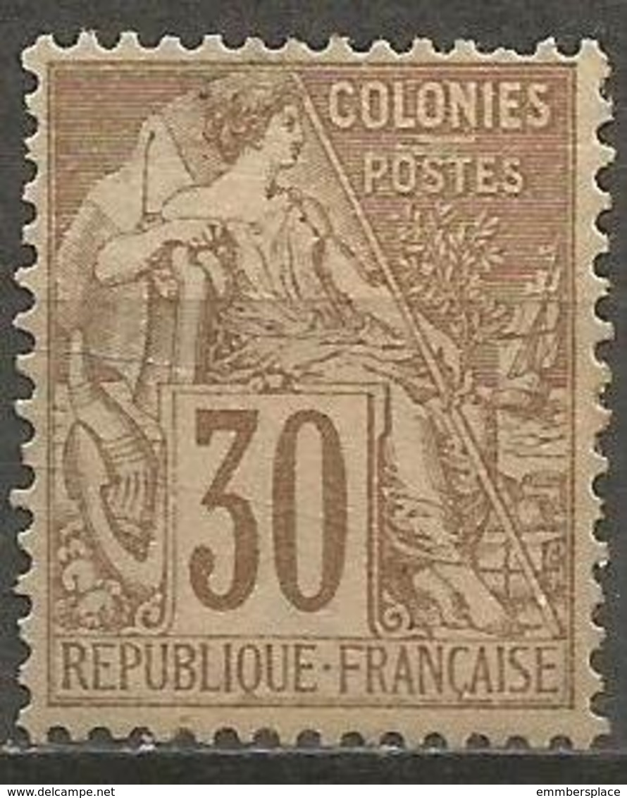 Colonies - 1881 Alphee Dubois 30c MH *   Mi 54  Sc 55 - Alphee Dubois