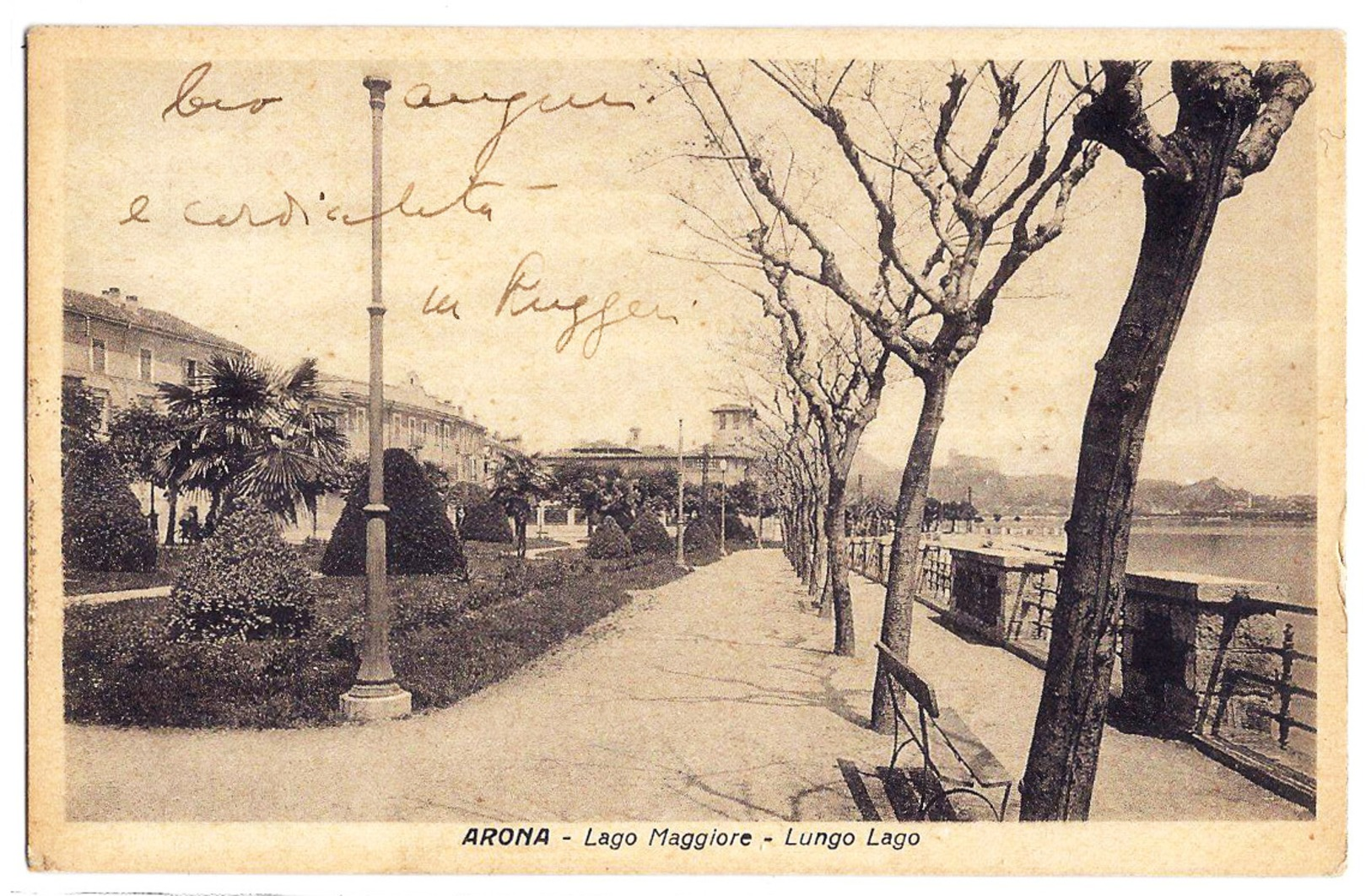 Arona (Novara) - Lago Maggiore - Lungo Lago - 1935. - Novara