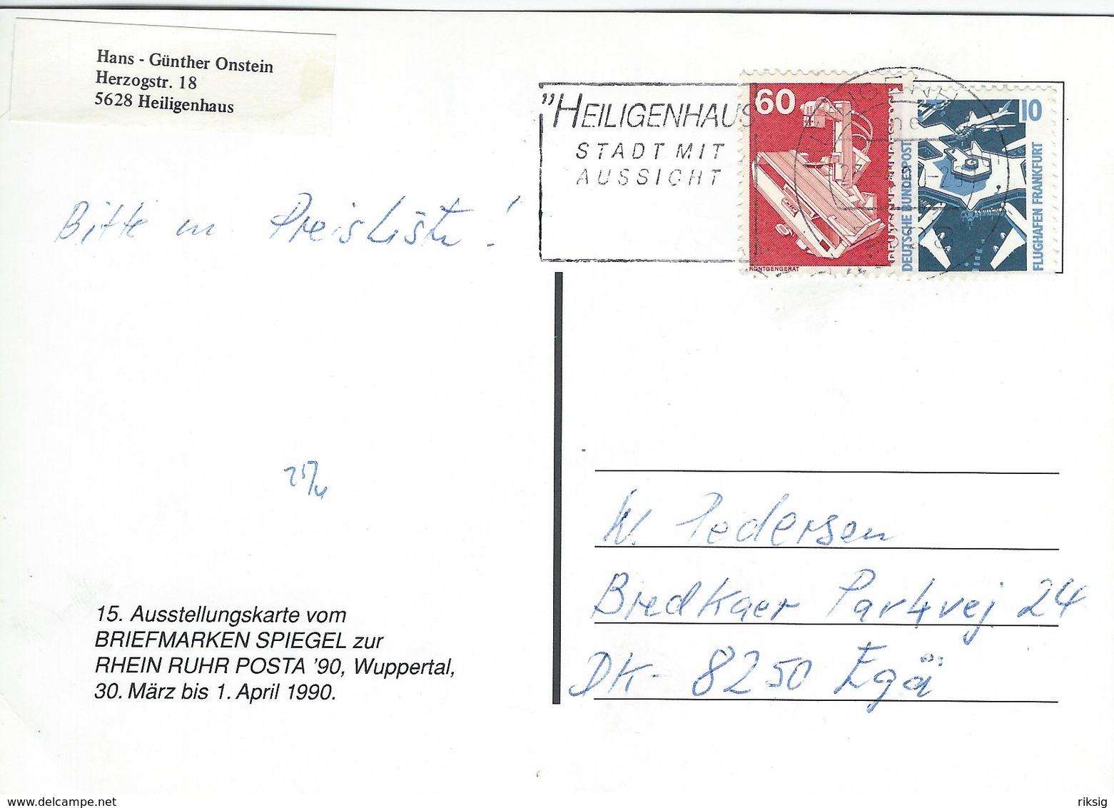 Philatelie Ist Mehr.  Austellungskarte Vom Briefmarken Spiegel . Rhein Ruhr Posta 90. Wuppertal.   Germany.  # 07572 - Unclassified