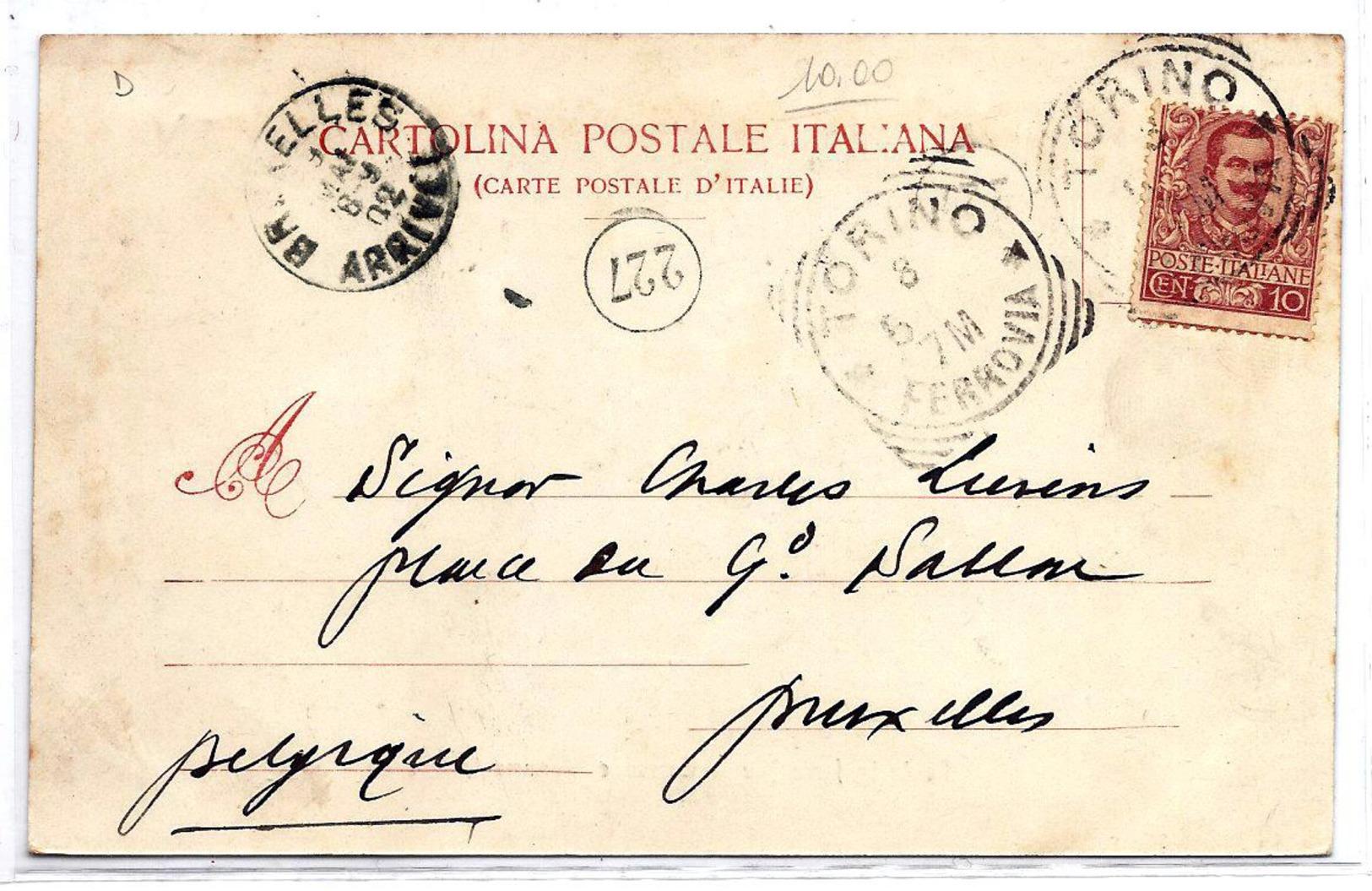 Torino - Ponte In Ferro Maria Teresa E Monumento Crimea - 1902. - Fiume Po